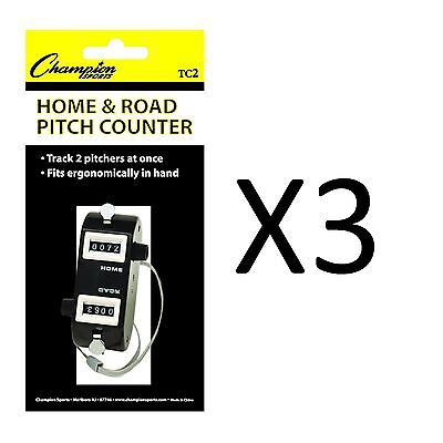 Champion Home/Road Dual Baseball And Softball Pitch Tally Counter (3-Pack)