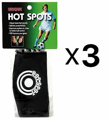 Unique Sports Soccer Hot Spots Shoe Lace Cover-Ball Sweet Spot Band (3-Pack)