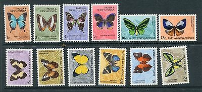 PAPUA NEW GUINEA 1966 BUTTERFLIES MNH Set to $2 SG82/92 12 Stamps