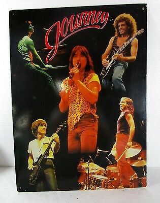 Vintage Rare 1982 JOURNEY ROCK MUSIC GROUP TIN METAL SIGN STYLE POSTER