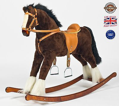 "Beautiful Handmade Brand New Rocking Horse ""Titan"" from MJMARK MADE IN EUROPE"