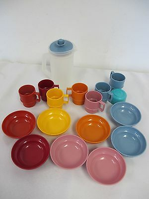 Tupperware Kids Play Dishes Tupper Toys Bowls Mugs Pitcher Miniature
