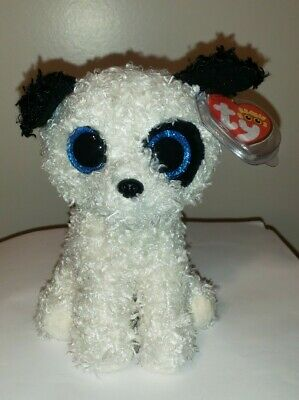 """Ty Beanie Boos - GATSBY the 6"""" Dog~ 2016 B & N Exclusive ~ NEW MWMT'S ~IN HAND"""