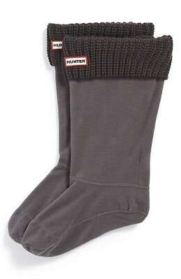 NWOB $50 Hunter Tall Cardigan Knit Cuff Welly Socks  Size M, L