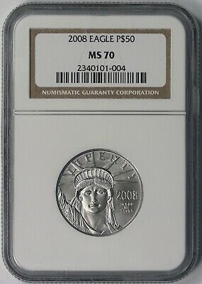 2008 Statue of Liberty Half-Ounce Platinum American Eagle $50 MS 70 NGC 1/2 oz