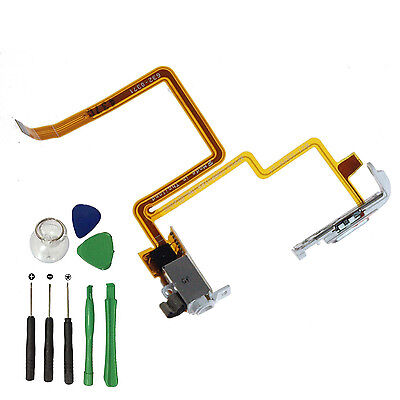 White Earphone Audio Jack Hold Switch Flex Cable for Apple iPod 5 Video 60 80GB