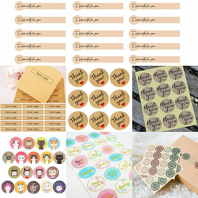 "45-120pcs Cute Envelope Seals Paper Stickers ""Thank You""Wedding Favor Gift Label"