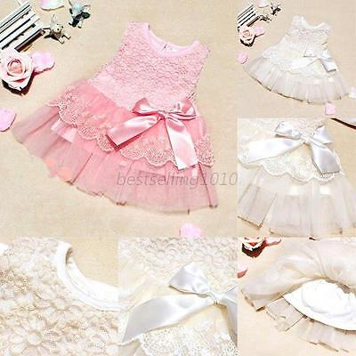 Kid Girl Toddler Baby Lace Princess Tutu Dress Party Pageant Wedding Party Dress