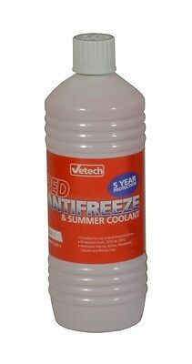 Vetech Antifreeze Red - 1 Litre Engine Cooling Coolant System For Audi A3