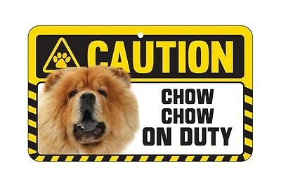 Dog Sign Caution Beware - Chow Chow