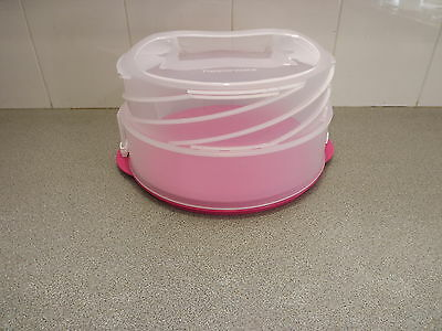 Tupperware collapsible round cake take new expandable New Pink naia