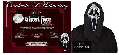 Silver Scream Ghostface Mask Limited Edition 25th Anniversary Halloween P9867