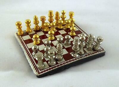 Dolls House Miniature 1:12 Scale Study Accessory Chess Set