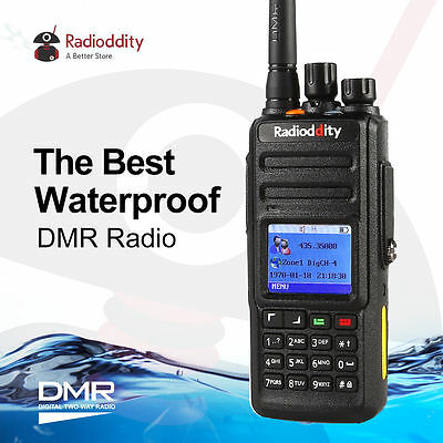 Radioddity GD-55 10W Wasserproof DMR Digital Radio UHF Emisora Walkie Talkies