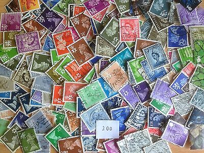 200 Different Great Britain Regionals Stamp Collection