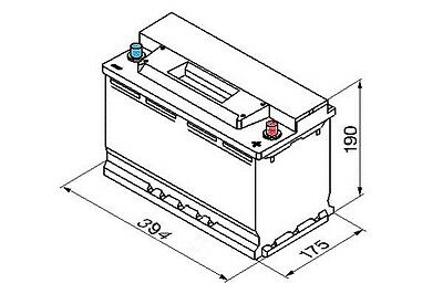 Bosch S5 Battery 100Ah Electrical System Part Fit BMW 6 Series E64 2004-2016