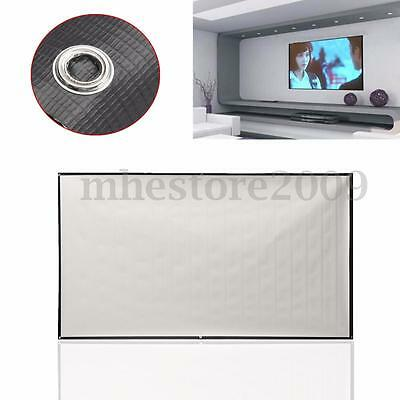 """84"""" inch Foldable Projector Screen Home Projection Cinema 16:9 Fabric Theater"""