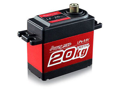 Power HD LF20 Metal Geared Servo - Red #HD-LF-20MG