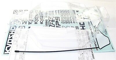 Kyosho Inferno MP9 TKI4 CLEAR BODY IFB008 shell stickers decals TKI3 KYO33011B