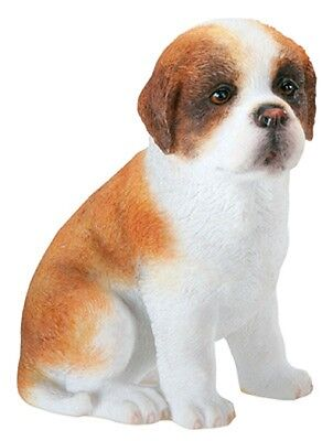 "Saint Bernard Puppy Figurine 2.5"" - New In Box -World Of Dogs Collection -"