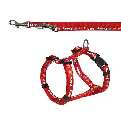 Trixie Puppy Small Dog Nylon  Harness And Lead Set Red XS 15343