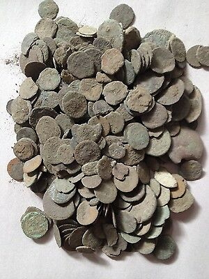 Low Quality Uncleaned And Unsorted Ancient Roman Coins Per Coin Buying !!
