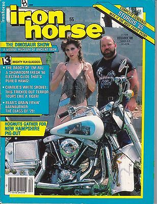 Iron Horse Motorcycle Magazine by Easyriders DECEMBER 1985 DEC