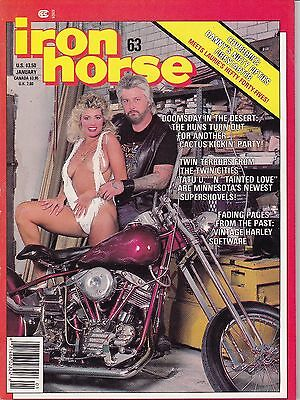 Iron Horse Motorcycle Magazine by Easyriders JANUARY 1987 JAN