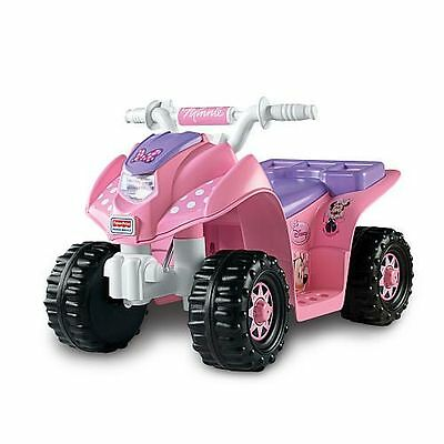 Fisher Price Power Wheels Minnie Mouse Lil Quad Ride On Y4997 *new*