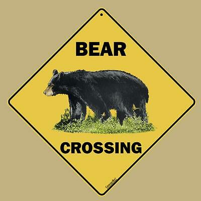 GRIZZLY BEAR CROSSING SIGN 16 1//2 by 16 1//2 NEW  wildlife decor animals novelty