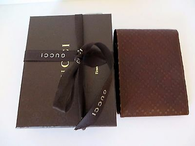 GUCCI  Men's NEW  Brown Diamante soft calf leather  Wallet.100% Authentic