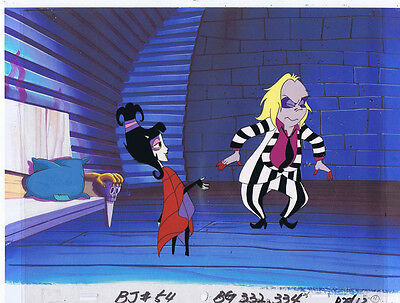 Beetlejuice The Animated Series Production Animation Cel & Copy Bkgd #A9695