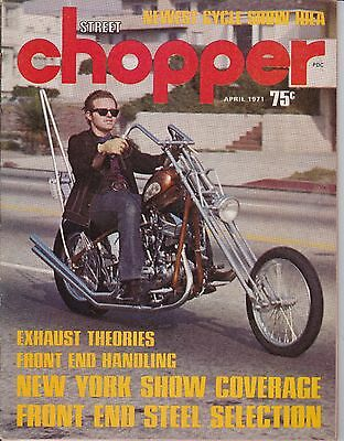 Street Chopper Motorcycle Magazine APRIL 1971 APR