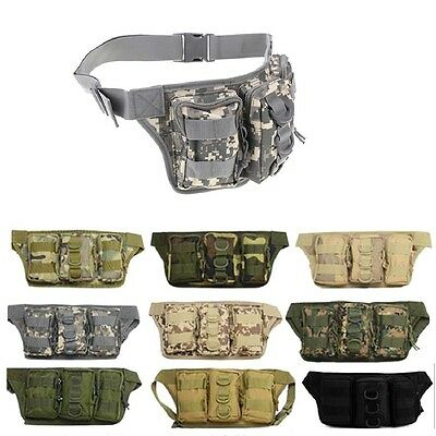 Sports Hiking Fishing Waist Bottle Bag Fanny Pack Men Outdoor Cycling Tackle Bag