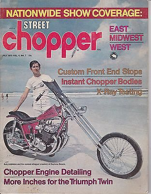 Street Chopper Motorcycle Magazine JULY 1972 JUL
