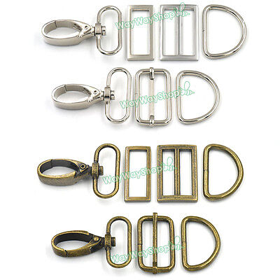 Leather Swivel Snap Hook Sling Clip 38mm Buckle Triglide D ring Rectangle Straps