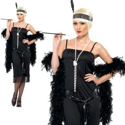 Adults Flapper 20's Ladies Great Gatsby Fancy Dress Burlesque Costume