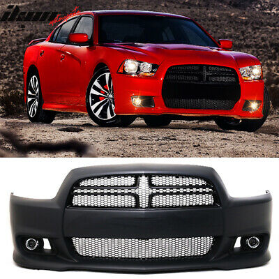 11-14 Dodge Charger SRT8 Style Hellcat Conversion Front Bumper Cover - PP