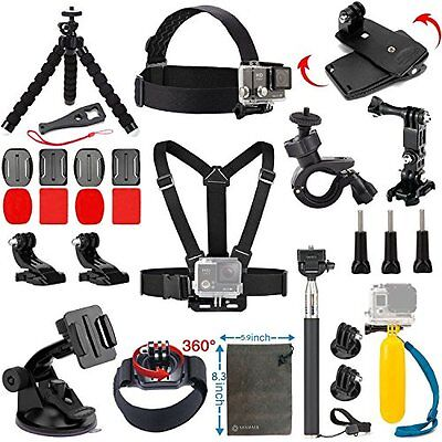 Vanwalk 20-in-1 Accessories Kit for Gopro Hero 5, Session 5, 4/3+/3/2, New
