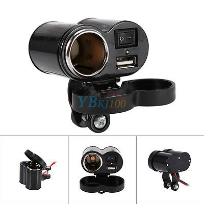 Universale Moto Accendisigari USB DC 12V Car Cigarette Lighter Socket Charger