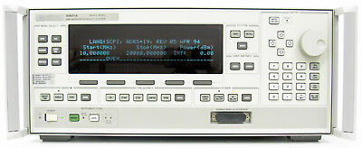 HP Agilent 83621A w/ Display 83620A Sweep generator 20 Ghz +10 dBm Certificate