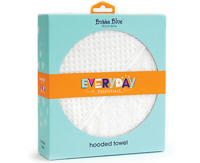 Bubba Blue Hooded Towel - White Waffle