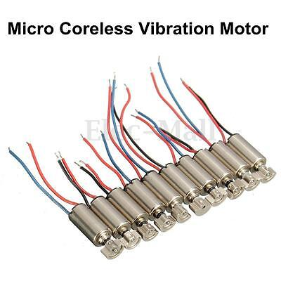 10Pcs Micro Cell Phone Coreless Vibration Motor Vibrator 4x8mm DC 1.5-3V RC Toys
