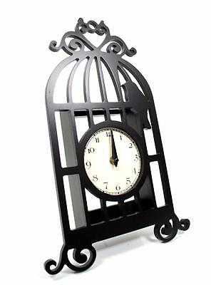 Gorgeous & Unique Shabby Chic Home Wall Mounted Birdcage Wall Clock Cl1105 • £11.99