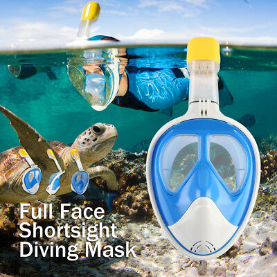 2nd Swimming Snorkeling Full Face Diving Mask Snorkel Scuba for GoPro L/XL Size