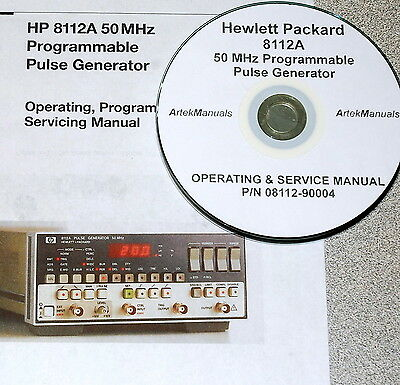 Hewlett Packard Operating & Service Manual for the 8112A Pulse Generator