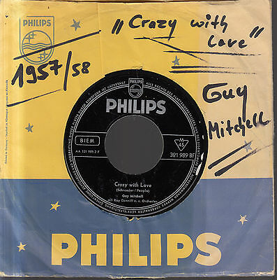 "7"" GUY MITCHELL: Crazy With Love/Singing The Blues"
