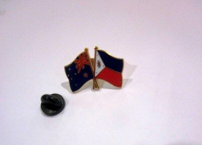 Australia & Philippines Flags Friendship Flag Pin Badge Australian Filipino