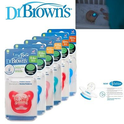 Dr Brown's Baby New Improved Options Prevent Glow In Dark Orthodontic Soother