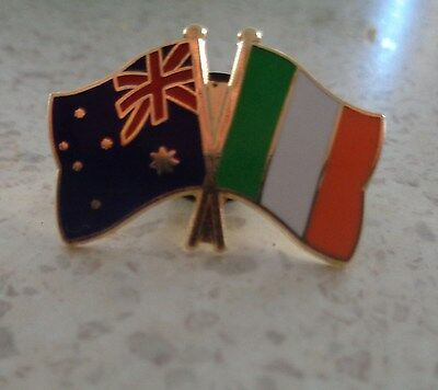 Australia & Ireland Flags Friendship Flag Pin Badge